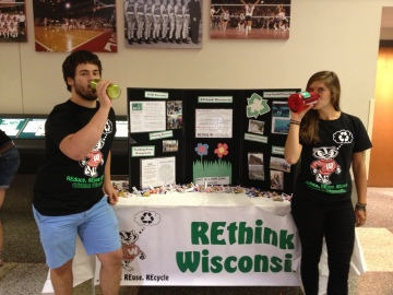 Co-Chairs Eric and Andrea REfill before the Student Org Fair that was during the first week. Way to go guys!